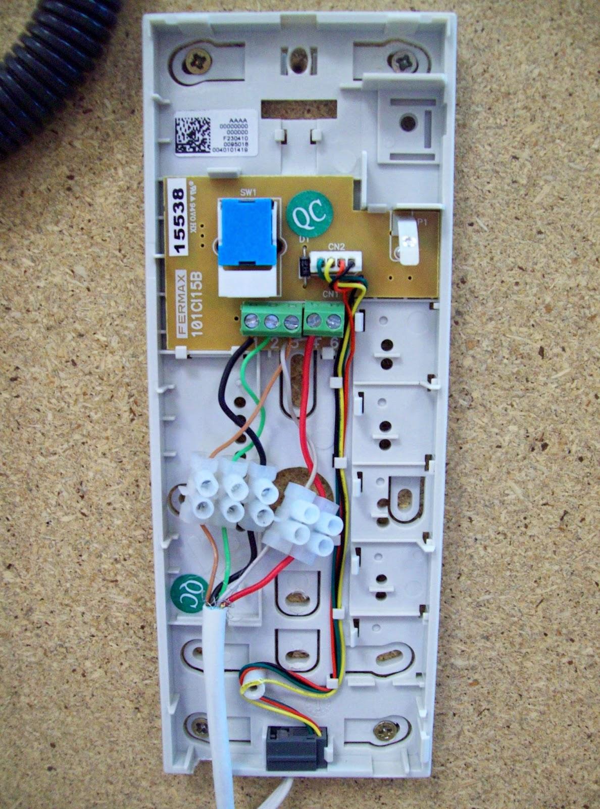 Telefonillo golmar t 810 mil anuncioscom blanco for Cables telefonillo colores