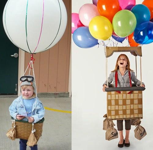 Disfraz aviador globos fantasia aviador balões