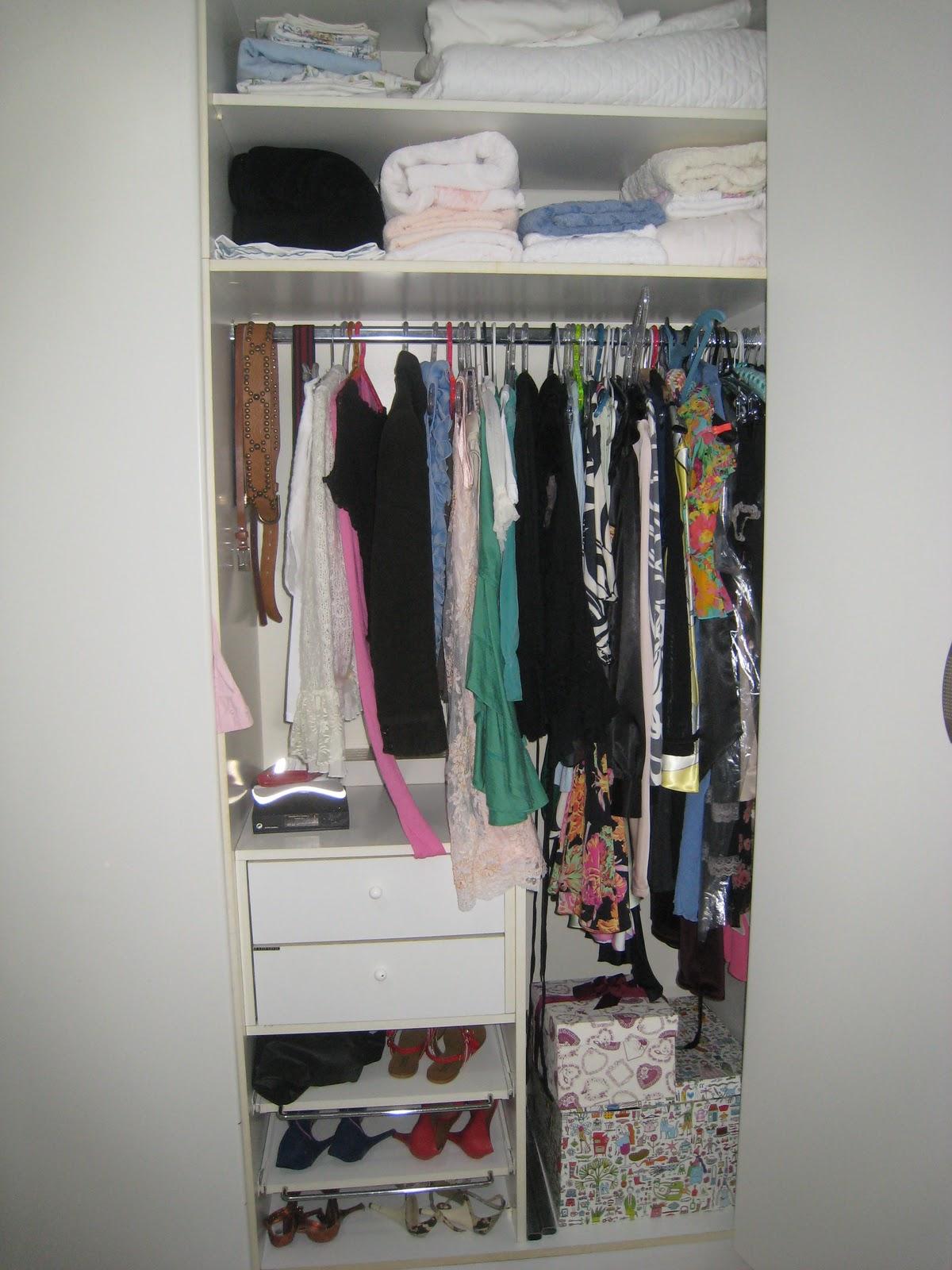 Armario Feminino ~ Kika Closet Organizando armário feminino
