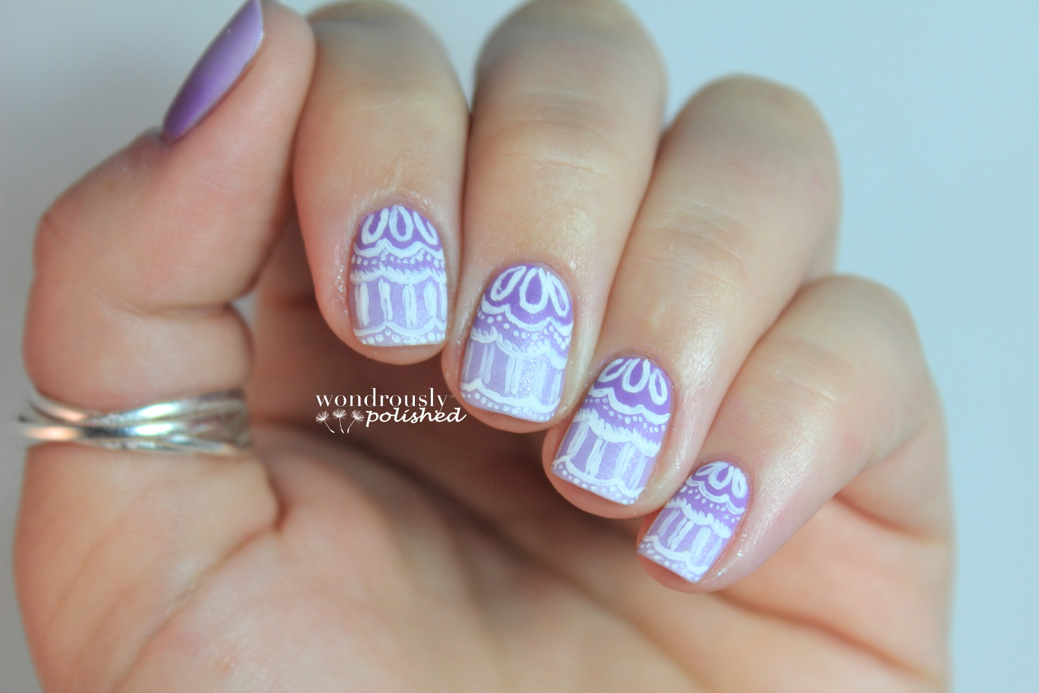 Wondrously Polished 31 Day Nail Art Challenge Day 6 Violet Nails