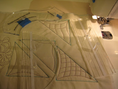 quilting with rulers on a sewing machine