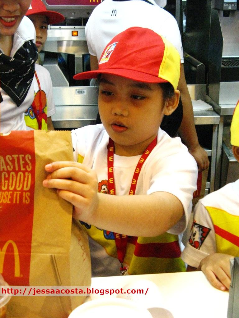be a mcdonald s kiddie crew this summer patches of life here s your fries ma am