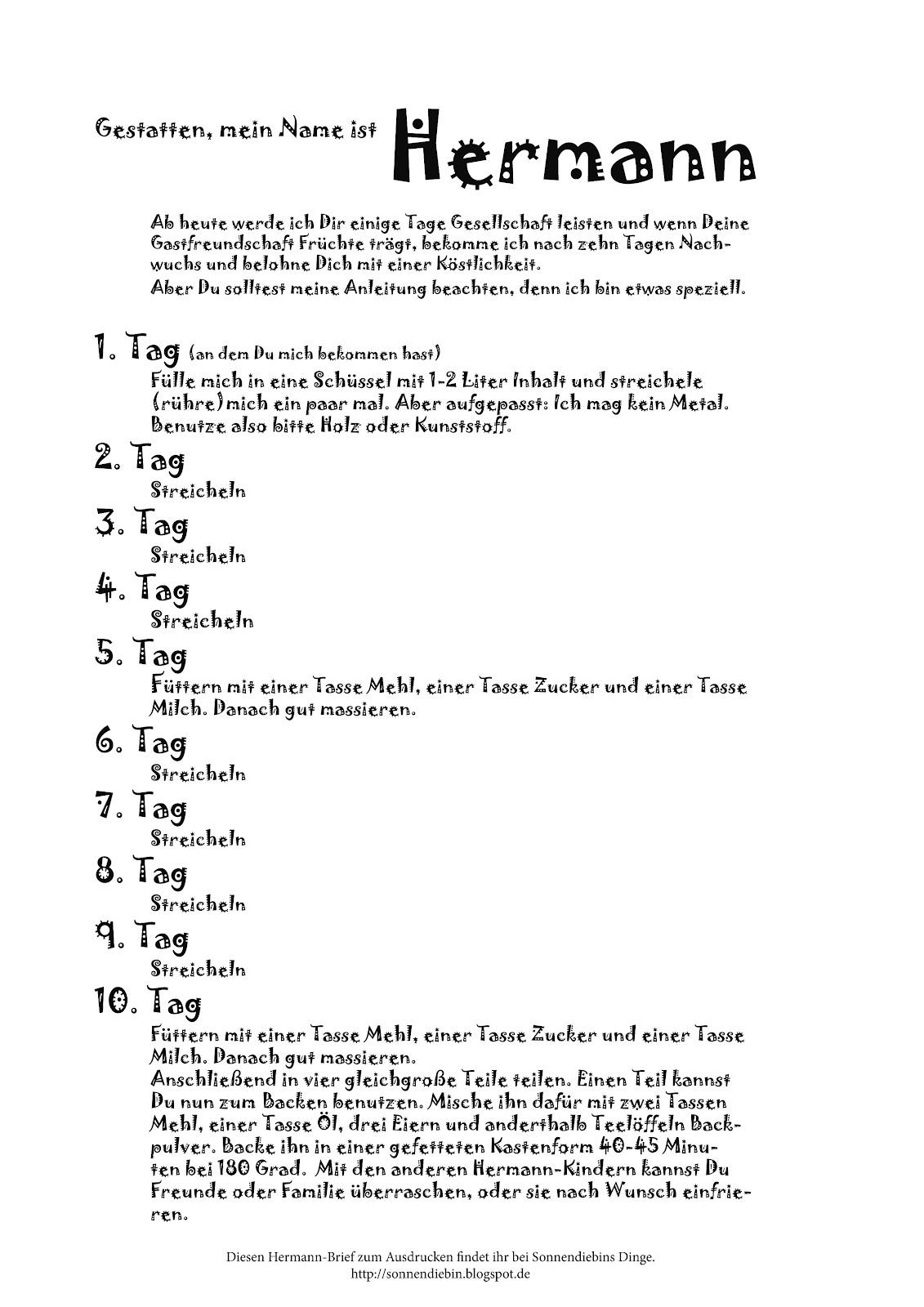 Hermann kuchen brief 10 tage