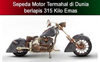 sepeda motor berlapis emas termahal