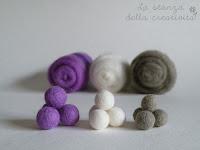 Palline in lana cardata