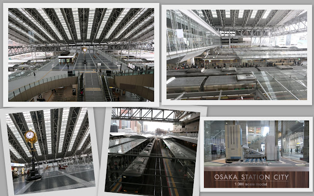 The futuristic concept of the most popular tourist attraction place at Osaka Station City in Osaka downtown, Japan