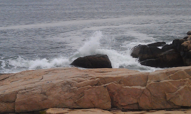 waves over the rocks