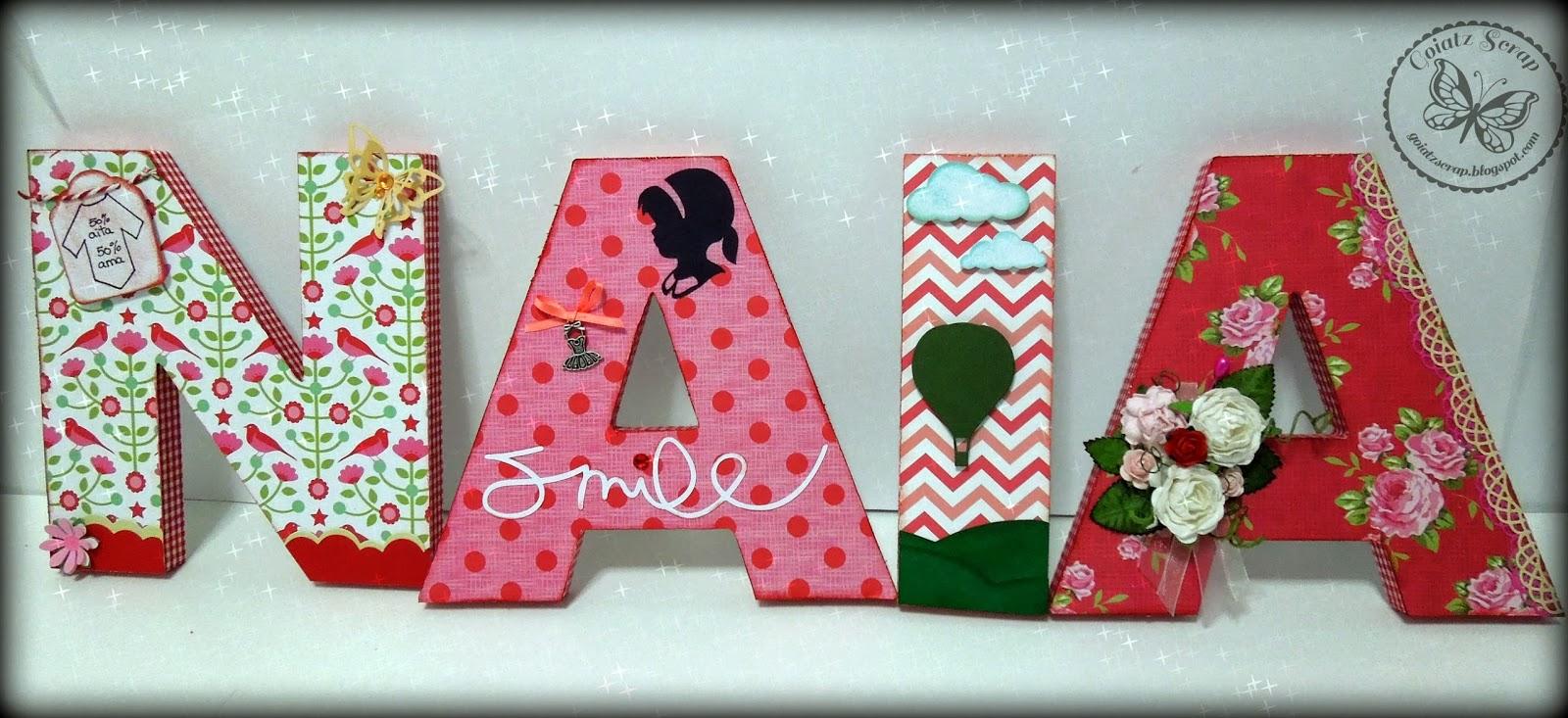 Letras decoradas para naia manualidades - Letras decoradas infantiles ...