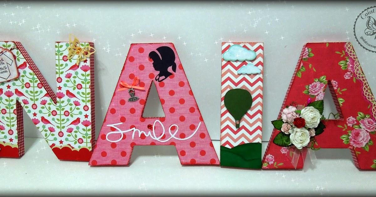 Goiatz scrap letras para naia - Letras bebe decoracion ...