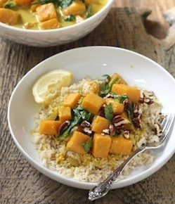 butternut squash coconut curry recipe