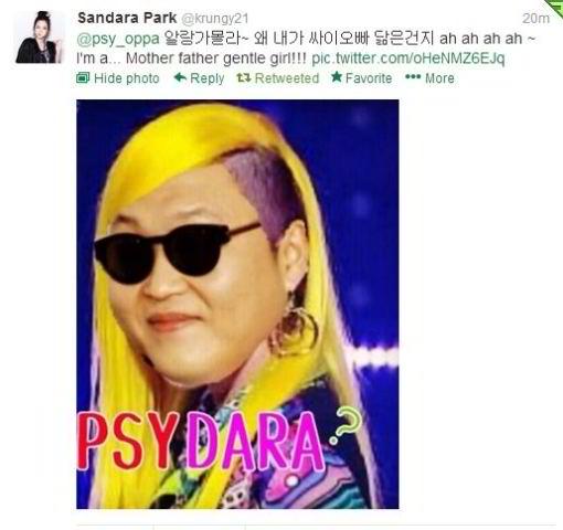 Dara 2NE1 + Psy