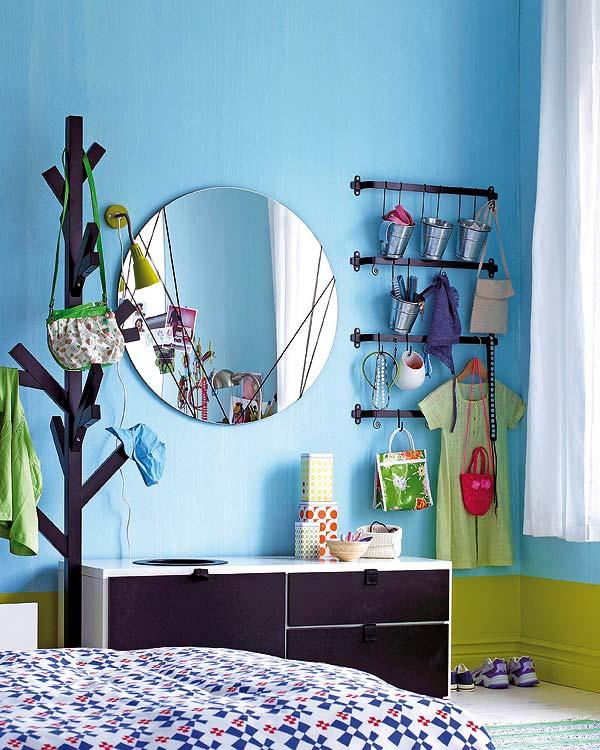 Um toque de azul nas paredes aninteriores - Dekorationsideen jugendzimmer ...