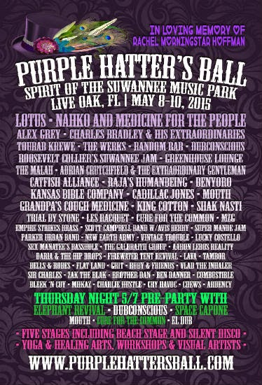 Purple Hatter's Ball, Live Oak, Florida