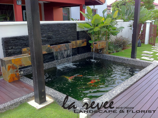 Professional koi pond and landscape contractor for Contemporary koi pond design