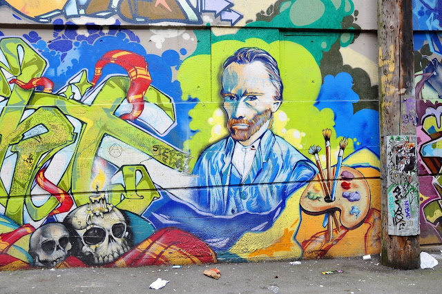 Tribute to Van Gogh in the Graffiti Street Murals, Vancouver, Canada