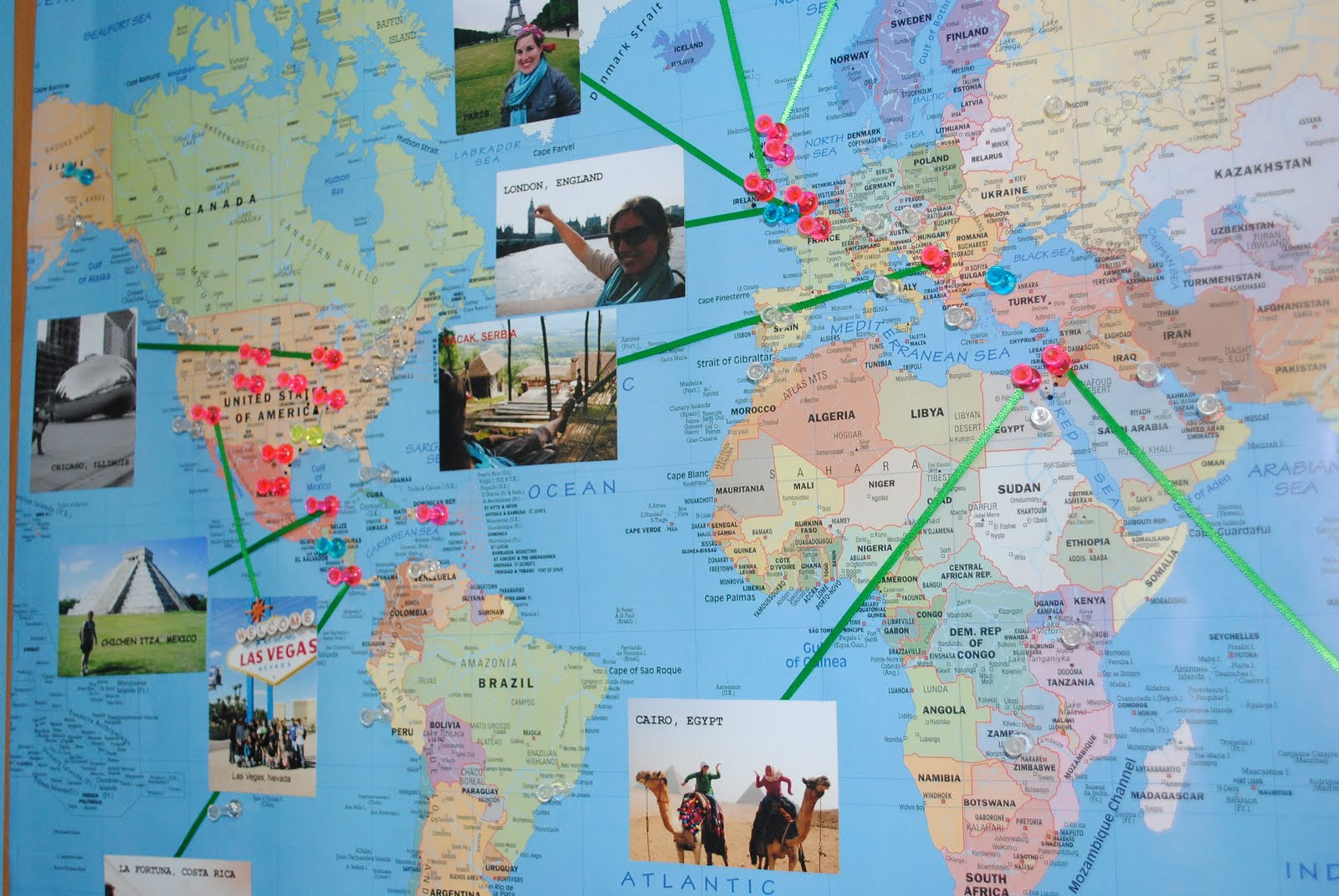 Pens on a World Map My Pins on a World Map – World Map Travel Planner