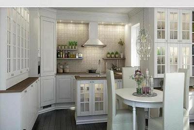 Cocinas de aspecto moderno con madera blanca for Sillas de cocina blancas de madera