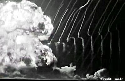 First French Atomic Bomb at Reggane, Algeria 2-13-1960