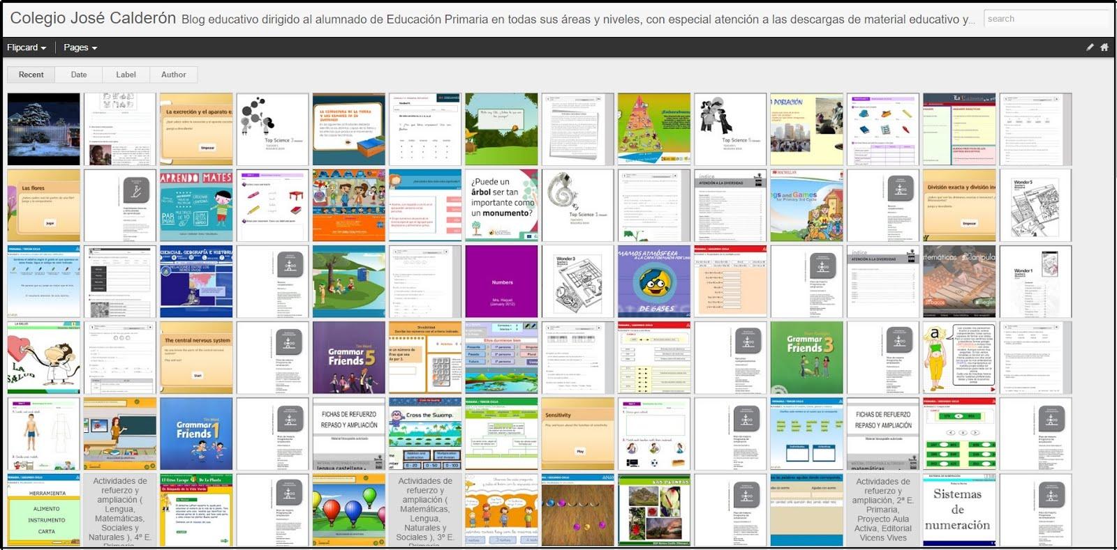 Vista dinámica del Blog
