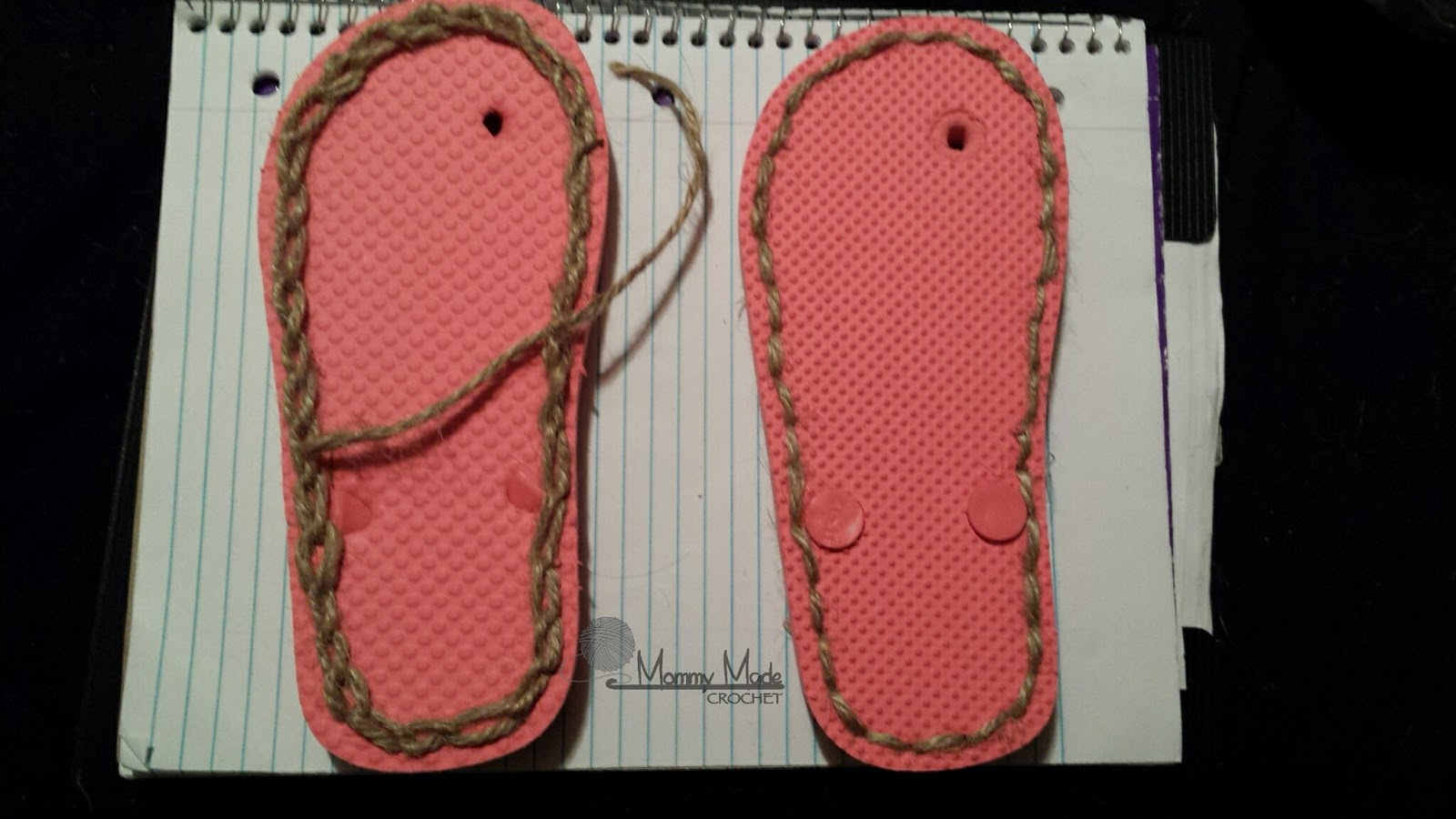 Mommy Made Crochet How To Make Flip Flop Soles