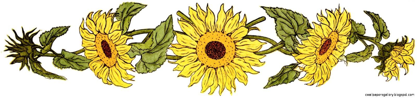 Flower Sunflower Clipart Free Printable Sunflower Sunflower