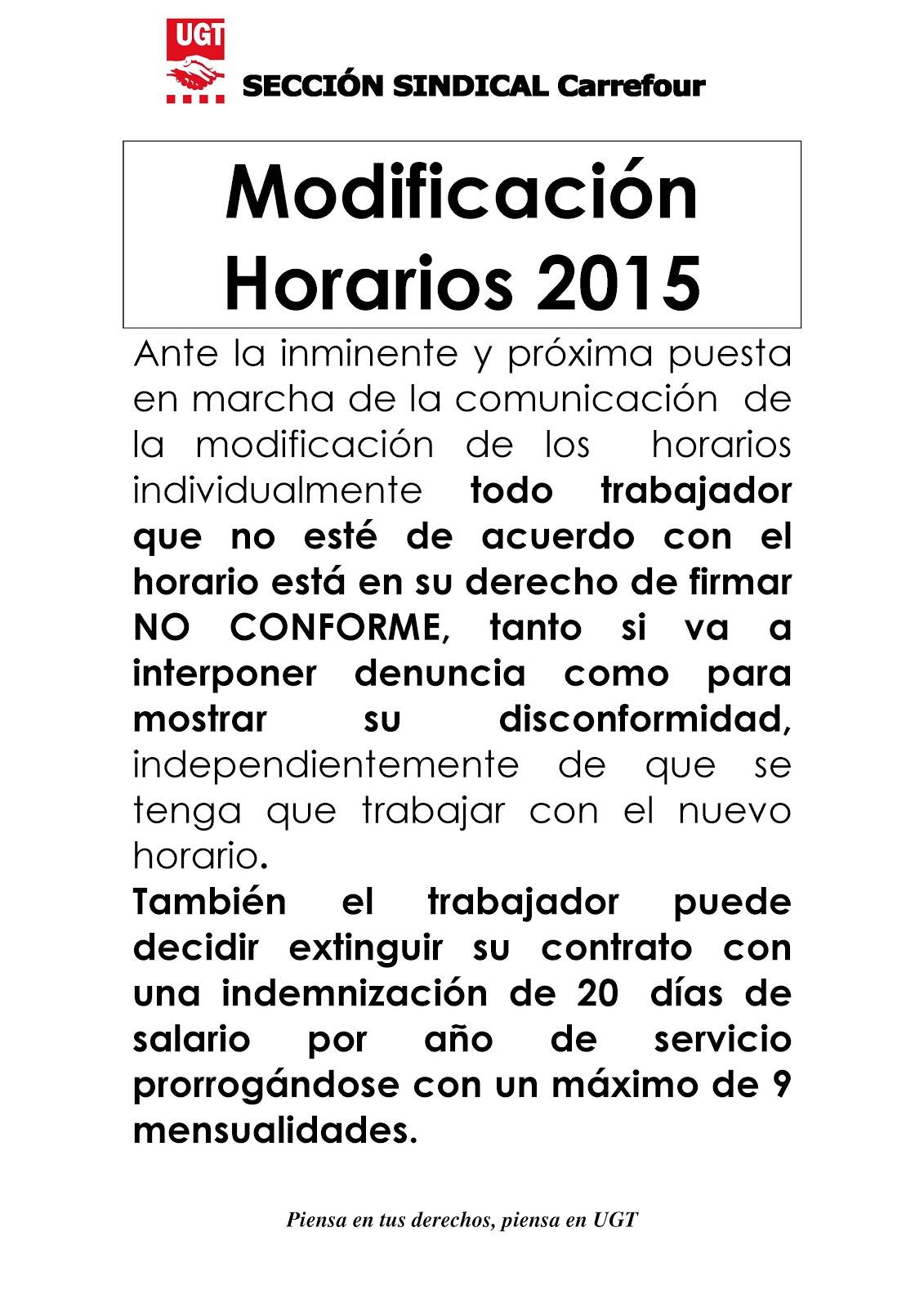 modif horarios 2015