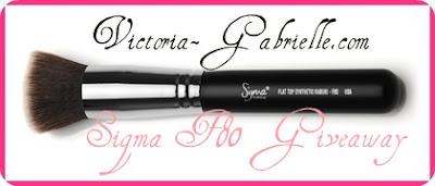 Victoria-Gabrielle.com Sigma F80 Brush Giveaway