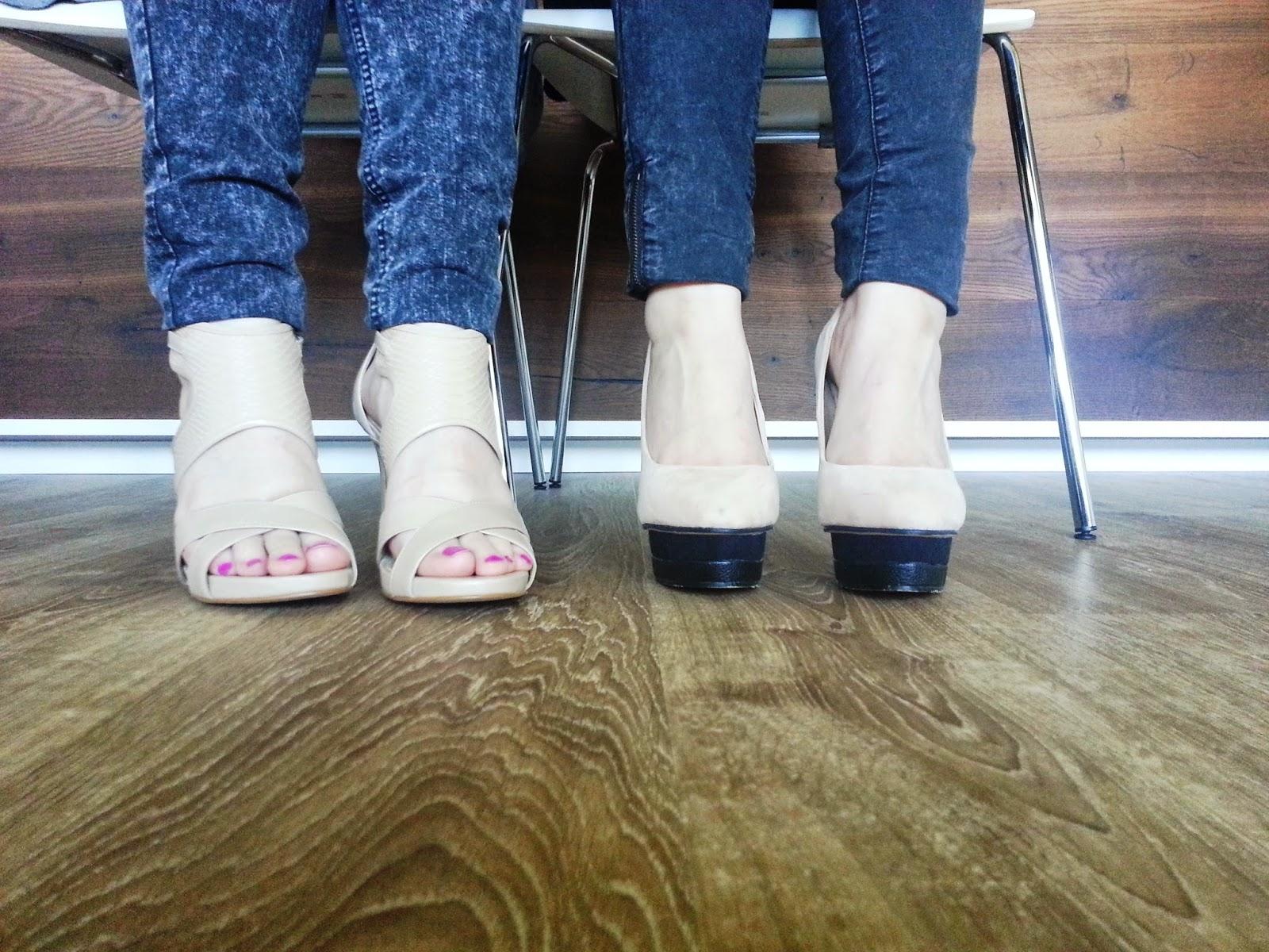 High Heels auf Laminat, da ist der Boden platt
