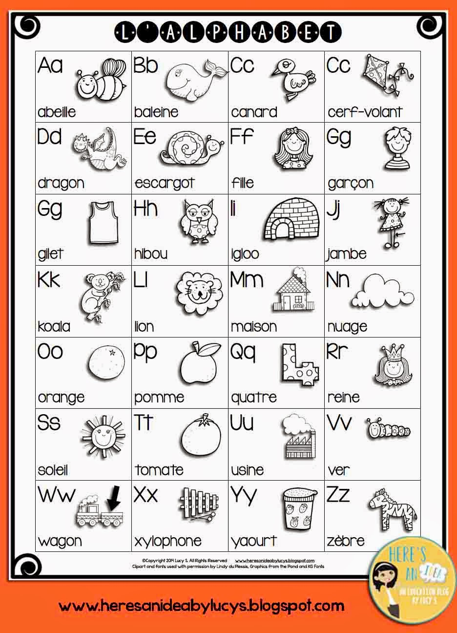 French Alphabet Letters French alphabet chart