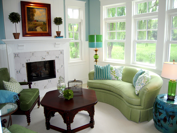 Blue and green living rooms exotic house interior designs for Living room designs green
