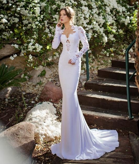 Mode Germany: Brautkleider mit Spitze im Meerjungfrauen-Stil