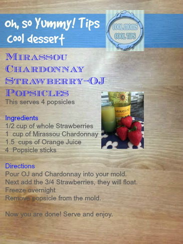 cool moms cool tips Mirassou popsicle sunshinesicle recipe