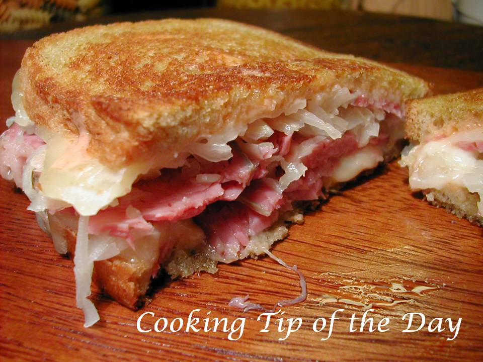 Cooking Tip of the Day: Recipe: Reuben Sandwich