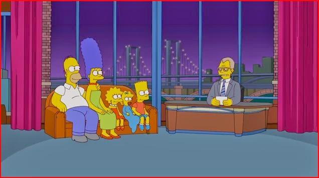 The Simpsons David Letterman animatedfilmreviews.filminspector.com