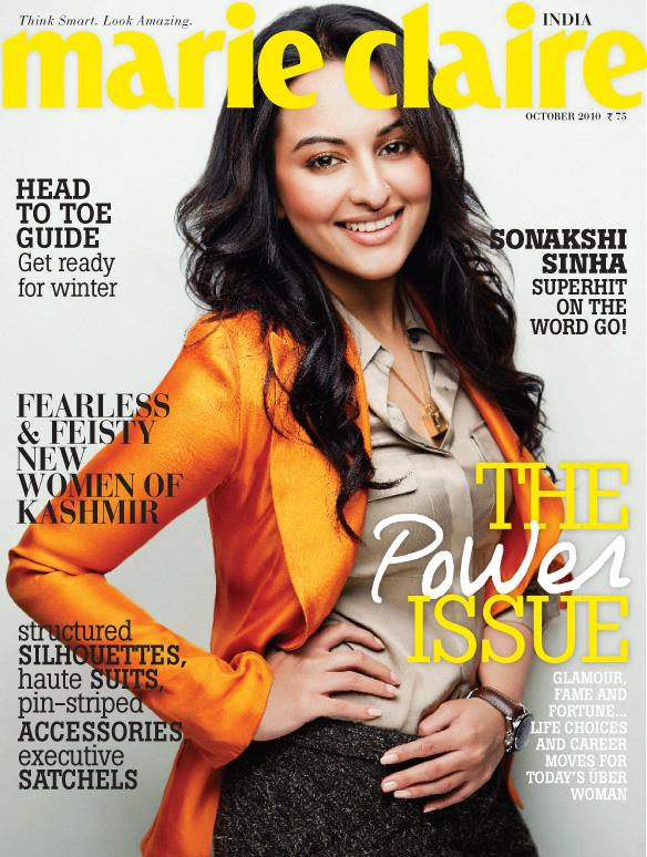 Sonakshi sinha  Marie Claire cover Pic1 - Sonakshi sinha on Marie Claire Magazine cover