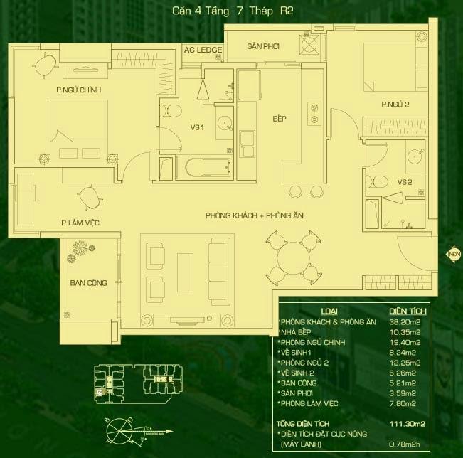 căn hộ 4 tháp R2, căn hộ the everrich