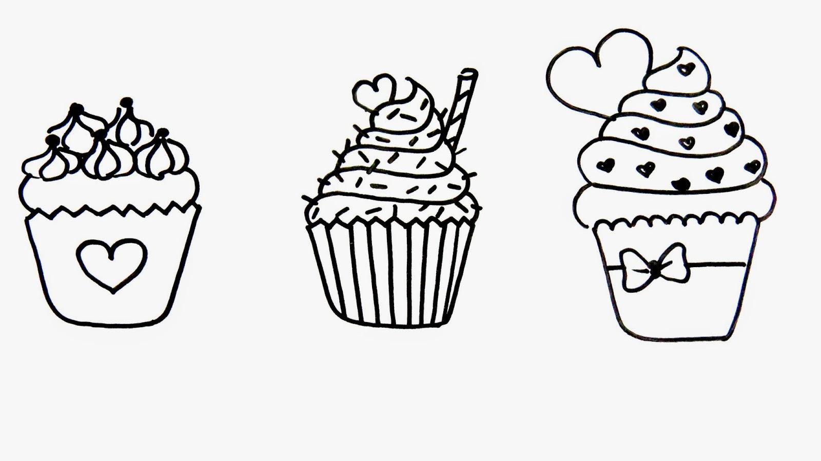 artes mariana santos desenhos de cupcake