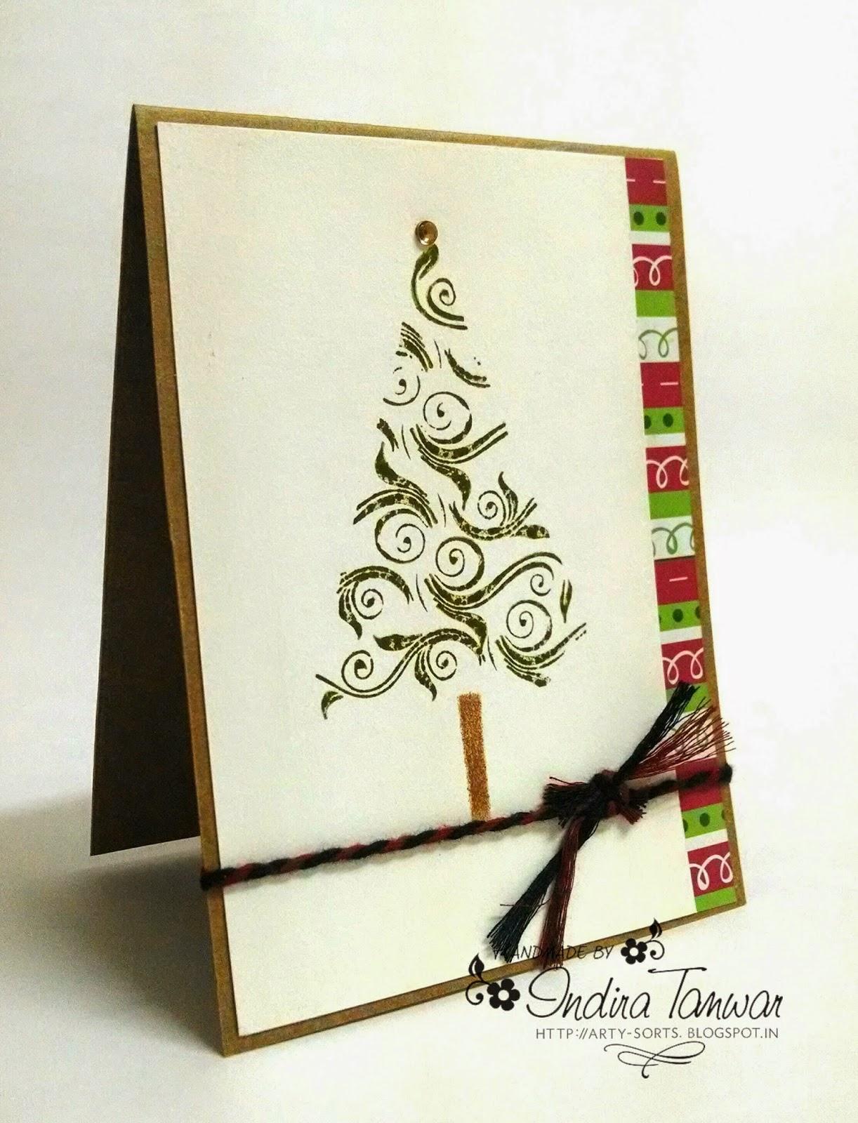 Arty Sorts: Handmade Christmas Card 2014 - Design 4