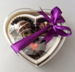 3pcs (plastic heart box)