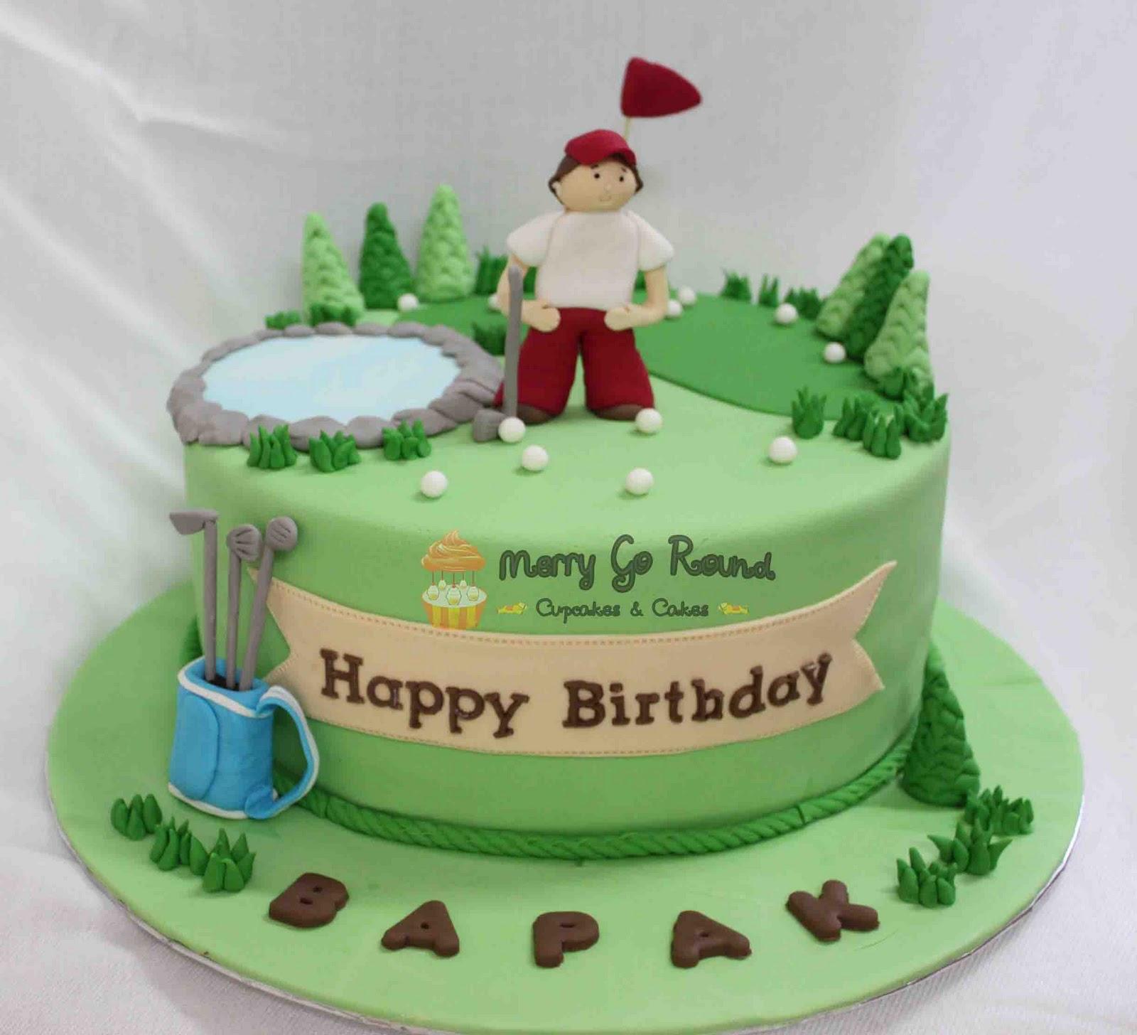Merry Go Round Cupcakes Cakes Golf Birthday Cake