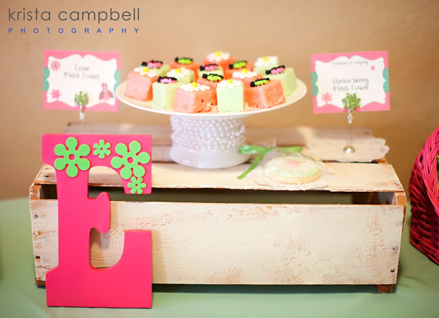 painted initial, lil ladybug food table signs, baby shower food ideas