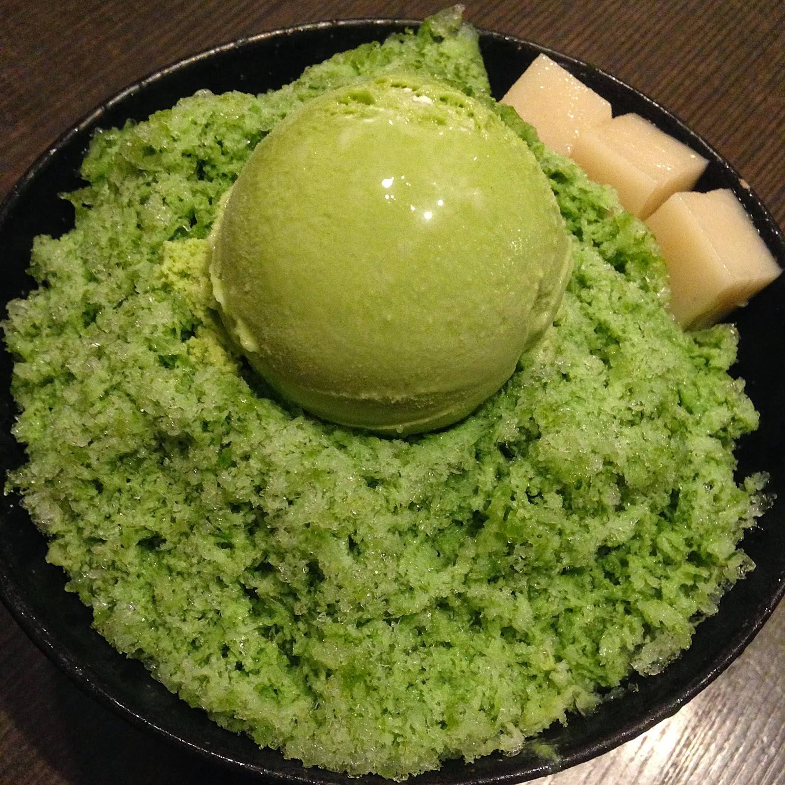 Foodiefc January 2015 Makaroni Rasa Green Tea Ice Flakes 14000 Krw S1750