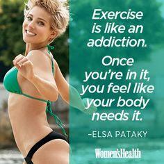 Elsa Pataky, quote, Womens health, exercise
