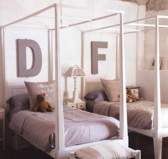 50 Ideias para decoração de quartos de meninas ou gêmeas
