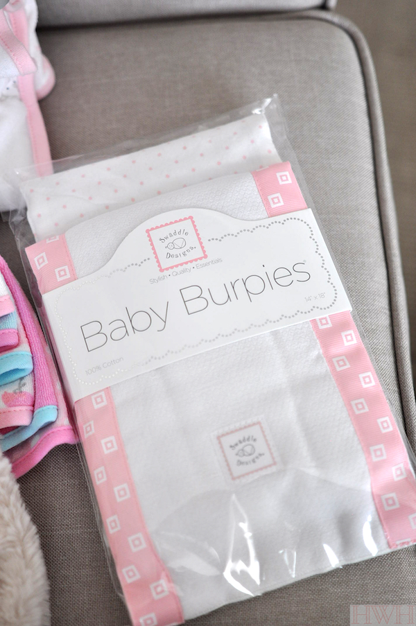 Pretties baby burpies around - make a great shower gift and you can monogram them!
