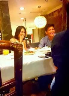Foto Ariel NOAH dan Sophia Mueller Latjuba Makan Malam Bersama