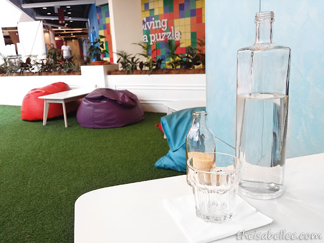 Grass sitting area at Tossed Jaya Shopping Centre