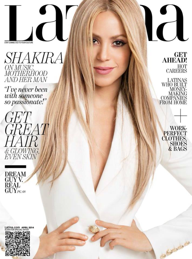 Shakira en portada de la revista Latina abril 2014