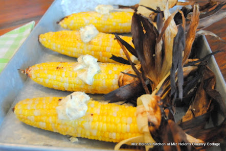 Grilled Corn with Dill Butter