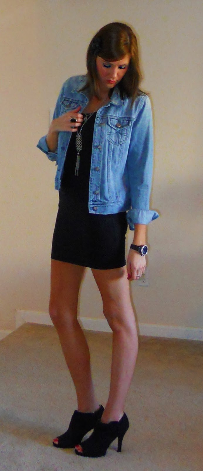 Black dress jean jacket - Black Dress Jean Jacket 3t